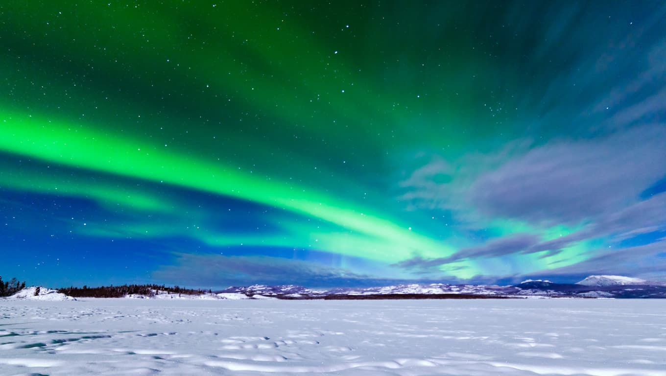 Aurora Borealis (Northern Lights) - Whitehorse, Yukon Territory